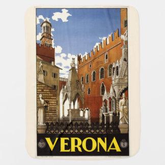 Vintage Verona Italy baby blanket