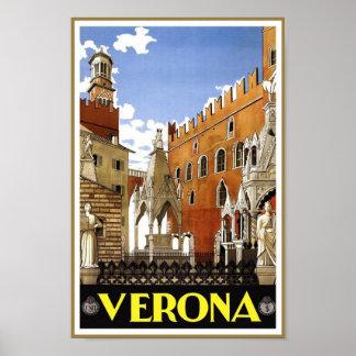 Vintage Verona, Italy Travel Poster
