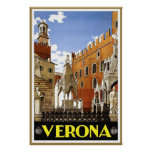 Vintage Verona Travel Poster