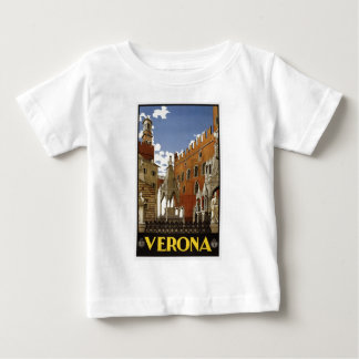 vintage-verona-travel-poster. baby T-Shirt