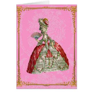Vintage Versalles de Marie Antonieta Tarjeta Pequeña