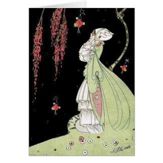 VINTAGE VERTE ART DECO MIDSUMMER'S NIGHT DREAM GREETING CARD