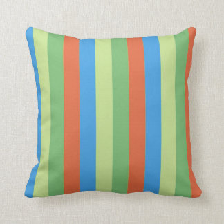 Vintage Vertical striped abstract Throw Pillow