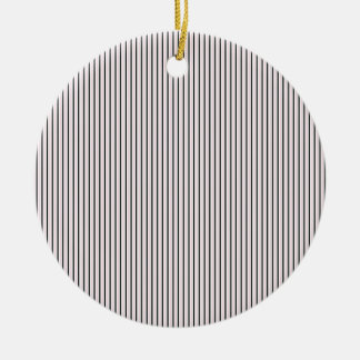 Vintage Vertical Stripes - Customize Ceramic Ornament