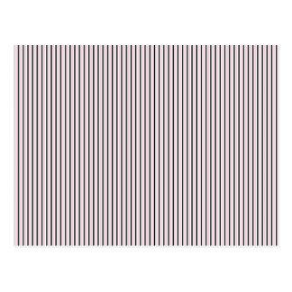 Vintage Vertical Stripes - Customize Post Card