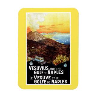 Vintage Vesuvius Gulf of Naples Italian travel Rectangular Photo Magnet