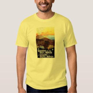 Vintage Vesuvius Gulf of Naples Italian travel T-shirt