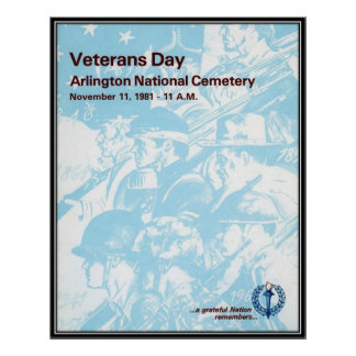 Vintage Veterans day, 1981  - Poster