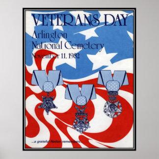 Vintage Veterans day, 1982  - Posters
