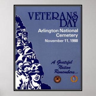 Vintage Veterans day, 1988  - Print