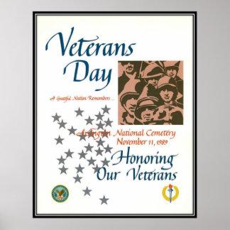 Vintage Veterans day, 1989  - Poster