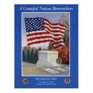 Vintage Veterans day, 1990 - Postcard