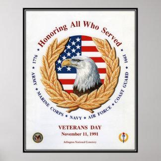 Vintage Veterans day, 1991  - Poster