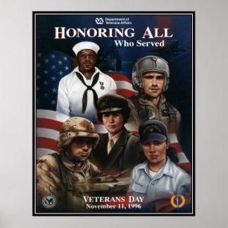 Vintage Veterans day, 1996  - Posters