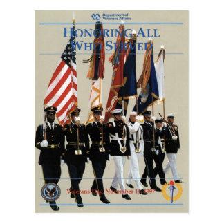 Vintage Veterans day, 1997 - Postcard