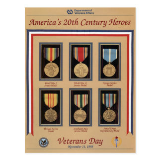Vintage Veterans day, 1998 - Postcard