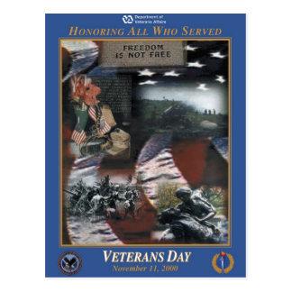 Vintage Veterans day, 2000 - Postcard