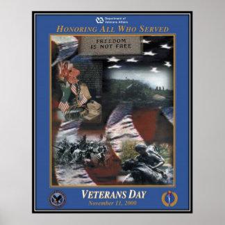Vintage Veterans day, 2000  - Print
