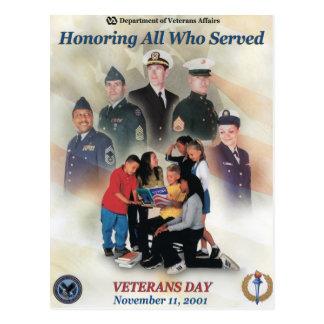 Vintage Veterans day, 2001 - Postcard
