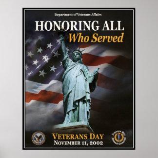 Vintage Veterans day, 2002  - Poster