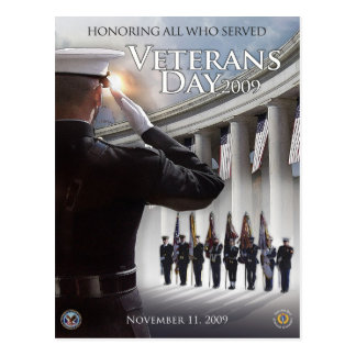 Vintage Veterans day, 2009 - Postcard