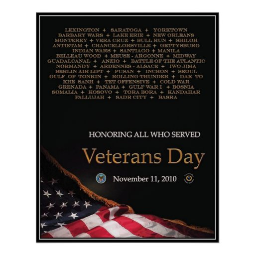 Vintage Veterans day, 2010  - Print