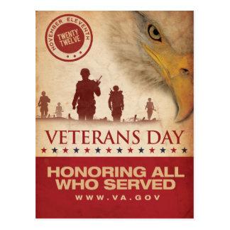 Vintage Veterans day, 2012 - Postcard