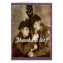 Vintage Veterans Day, Thanks a lot!-Military Card