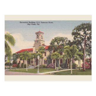 Vintage Veterans Home Bay Pines FL Postcard