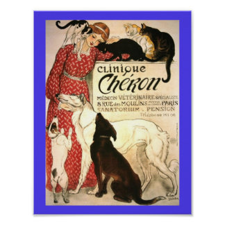 Vintage Veterinary Ad French 1905 Poster