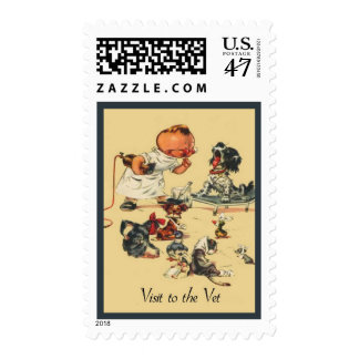 Vintage Veterinary Medicine Visit to the Vet Postage