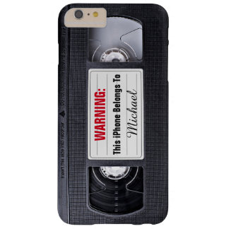Vintage VHS Cassette Tape Personalized Name Text Barely There iPhone 6 Plus Case