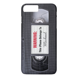 Vintage VHS Cassette Tape Personalized Name Text iPhone 7 Plus Case