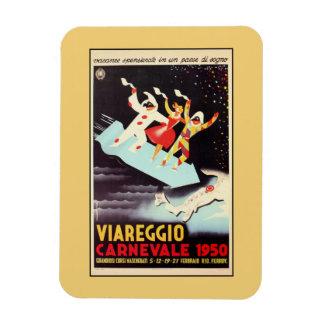 Vintage Viareggio carnival Italian travel ad Magnet