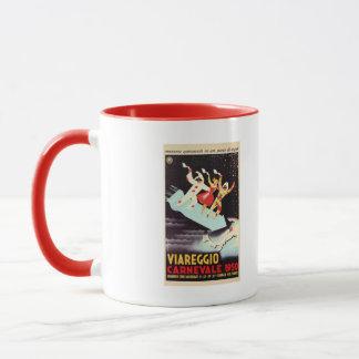 Vintage Viareggio carnival Italian travel ad Mug