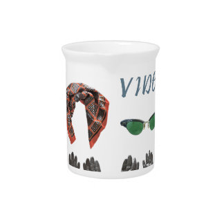 Vintage vibes clothing design beverage pitcher