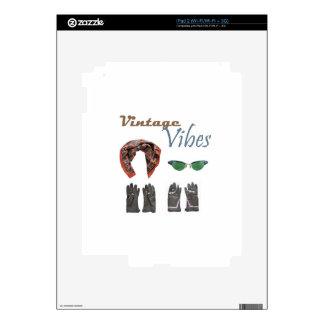 Vintage vibes clothing design iPad 2 skins