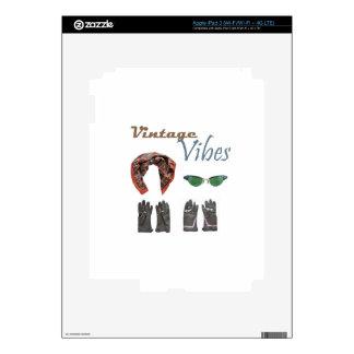 Vintage vibes clothing design iPad 3 skin