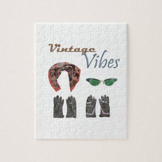 Vintage vibes clothing design jigsaw puzzle