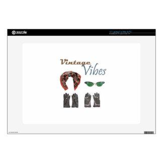 Vintage vibes clothing design laptop skins