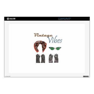 """Vintage vibes clothing design skins for 17"""" laptops"""