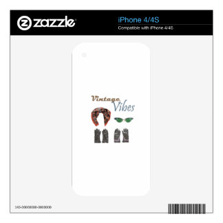 Vintage vibes clothing design iPhone 4S decal