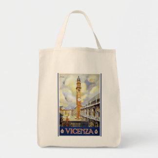 Vintage Vicenza Italia Bolsa Tela Para La Compra
