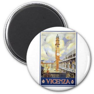Vintage Vicenza Italia Imán Redondo 5 Cm