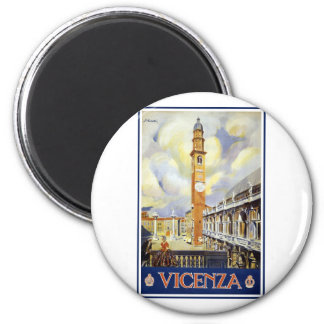 Vintage Vicenza Italy Refrigerator Magnet