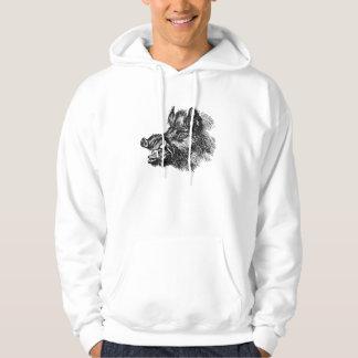 Vintage Vicious Wild Boar w Tusks Template Hoodie