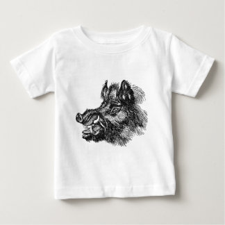 Vintage Vicious Wild Boar w Tusks Template Shirt