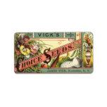 Vintage Vick's Choice Seeds Packet Label Art