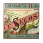 Vintage Vick's Choice Seeds Packet Label Art Tile