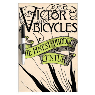 Vintage Victor Bicycle Ad Typography Bold Graphics Dry-Erase Board